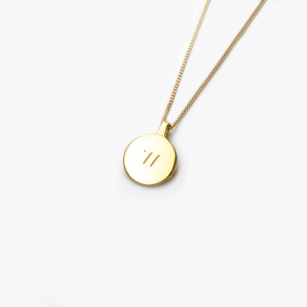 9K Gold Circle Pendant - Westhill Jewellery