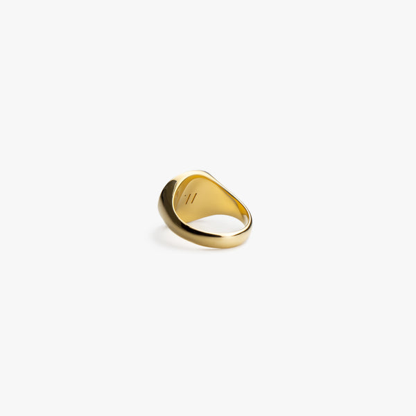 Gold Wide Signet Ring - Westhill Jewellery