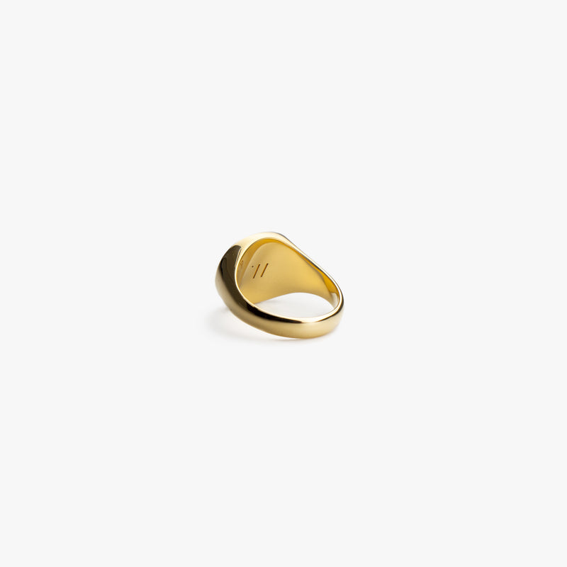 Gold Wide Signet Ring - Westhill