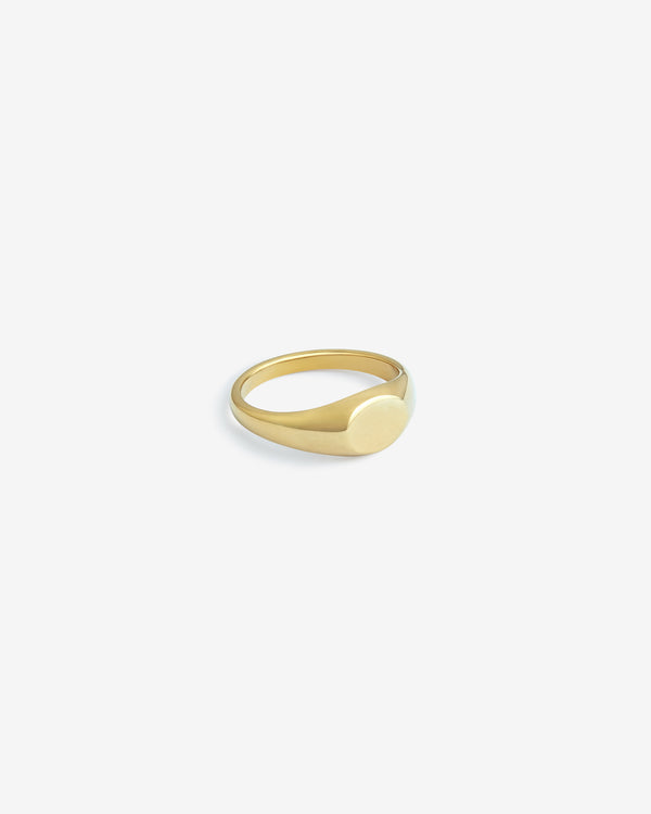 Gold Slim Signet Ring - Westhill Jewellery