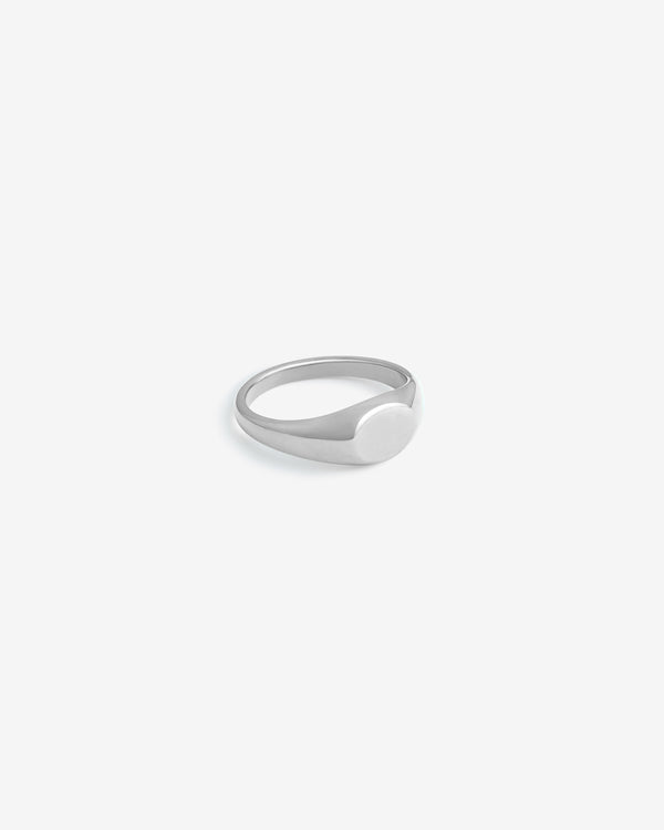 Silver Slim Signet Ring - Westhill Jewellery