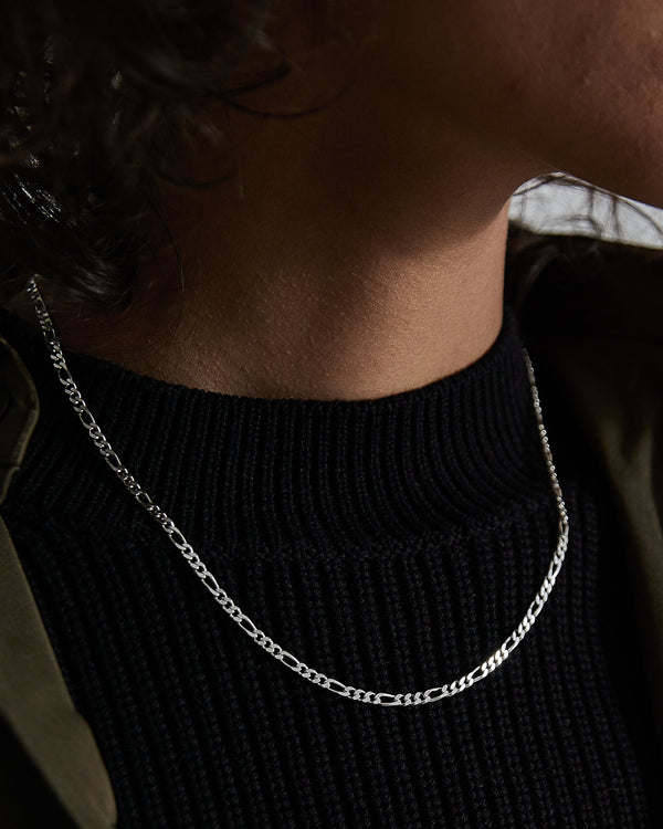 Silver Figaro Chain - Westhill Jewellery