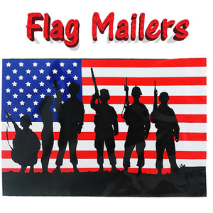 10x13 Patriotic Poly Mailers, Flat Shipping Flag Envelopes -Stickers 4th of July - ShipNFun