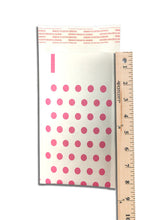 "4"" x 8"" Hot Pink Polka Dot Rigid Kraft BUBBLE MAILERS -Approved Mailers - ShipNFun"