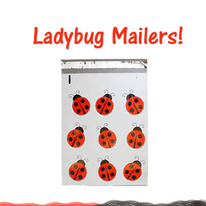 Poly Mailers 10 x 13 Red Lady Bug Kissy Lips, Mailer Shipping materials Bags NEW - ShipNFun