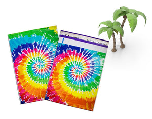 "10x13"" Tie-Dye FLAT POLY Mailers, Self Sealing Business Envelopes -USPS Approved - ShipNFun"