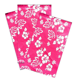 "6"" x 9"" Pink Hawaiian FLAT POLY Mailers -USPS Approved Shipping Envelopes - ShipNFun"