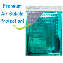 8.5x12 Holographic, Pink, Teal METALLIC BUBBLE MAILERS, Color Padded Envelopes! - ShipNFun