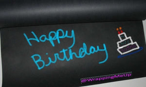 30' x 2' -Chalkboard Black Kraft Paper Roll, #50lb Writeable Table-Cloth Paper - ShipNFun
