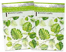 "6x10"" Tropical Banana Leaves Poly Bubble Mailers, Self Sealing Fun Designer Bubble Air Padded Bags, Shipping Envelopes - ShipNFun"
