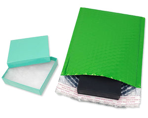 6x10 Candy Apple Green Metallic Bubble Mailers,  Self Sealing Shipping Padded Envelopes - ShipNFun