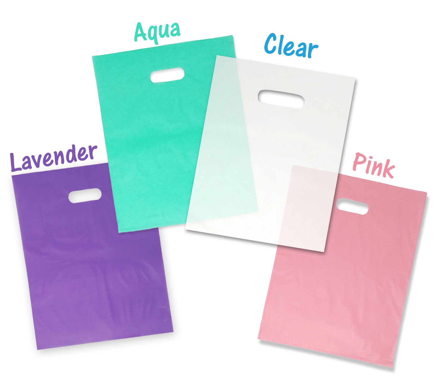 9x12 And 12x15 Quot Frosted Plastic Merchandise Gift Bags