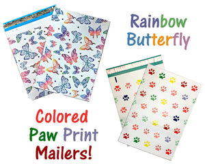 "40 -100 Pack 10x13"" Designer Quality Poly Mailers, Self Adhesive Shipping Colorful Design Custom USPS Mail bags, Colored Flat Envelope"