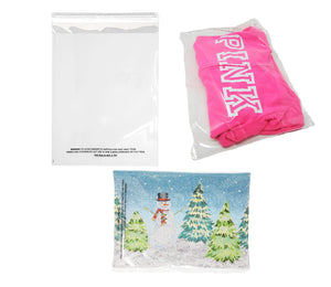 7 Sizes Crystal Clear Self Seal Transparent Plastic Cellophane Poly Bags,  Cookies, Candy, Gifts, Merchandise, Tshirts, Storage Bags 1.5 Mil