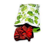 "10x13, 14.5x19x4"" Tropical Palm Leaves Flat Poly Mailers Combo, Mailing Shipping bags, Custom Banana Green leaf Medium and Large, Self Seal"