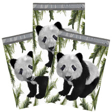 10x13 Cute Panda Bear Flat Poly Mailers, Custom Designer Shipping Self Seal Shipping Mailing bags - ShipNFun