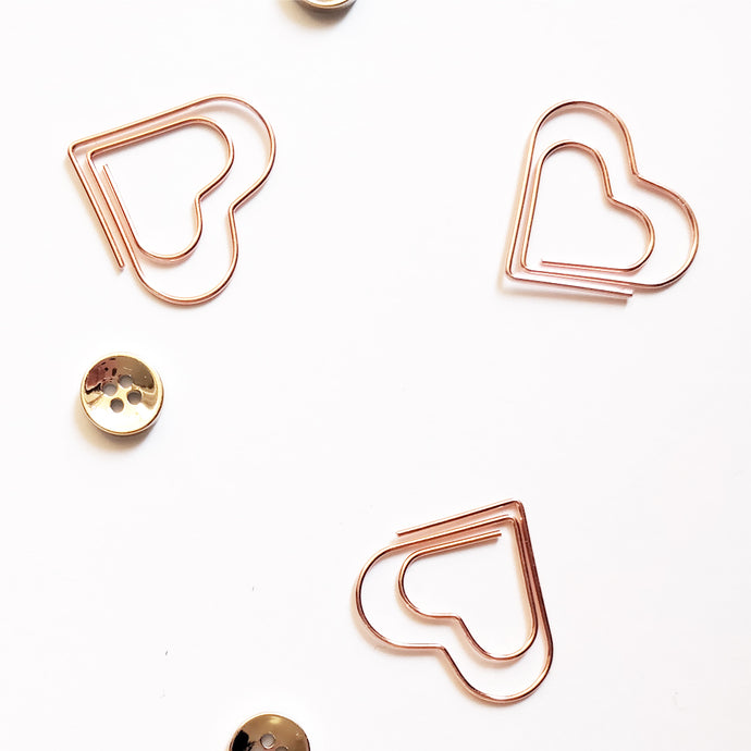 Nautankishaala - Heart Shaped Paper Clips | Set Of 5 - Nautankishaala