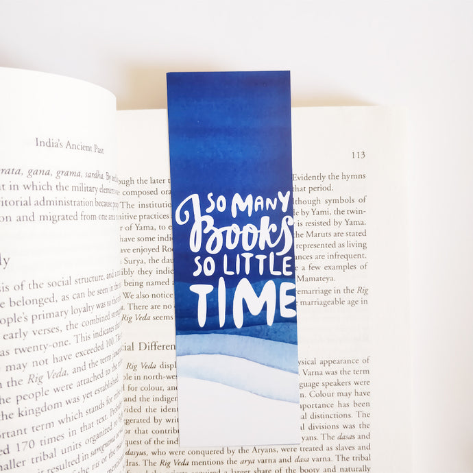 So many books so little time Bookmark - Nautankishaala