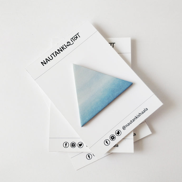 Triangle - Watercolor & Geometry Sticky Notes - Nautankishaala