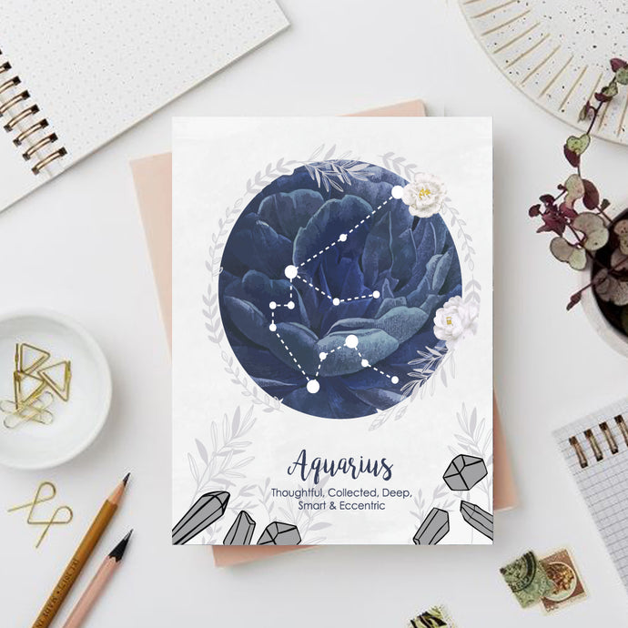 Aquarius Zodiac Sign Notebook - Nautankishaala