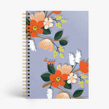 Load image into Gallery viewer, Floral Fantasy Notebook - Blue - Nautankishaala