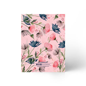 Nautankishaala - Pink Floral Field A5 Notebook | Unruled Notebook For Doodle Online in India