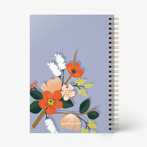 Floral Fantasy Notebook - Blue - Nautankishaala