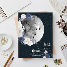 Load image into Gallery viewer, Gemini Zodiac Sign Notebook - Nautankishaala