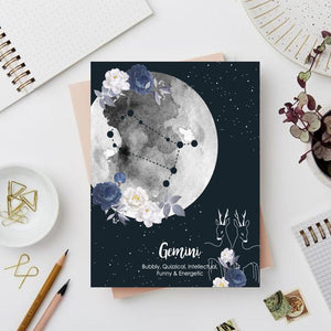 Gemini Zodiac Sign Notebook - Nautankishaala
