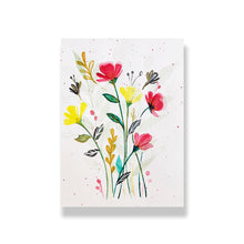 Load image into Gallery viewer, Nautankishaala - Custom Hand-Painted Floral Greeting Card