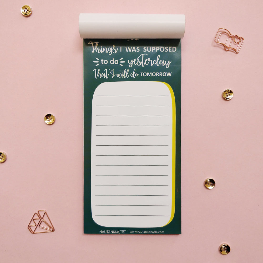 Buy Quirky Planner Online India | Nautankishaala - Quirky To-Do List - Daily Planner Online