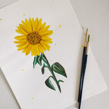 Load image into Gallery viewer, You Are My Sunflower Gauche Painting