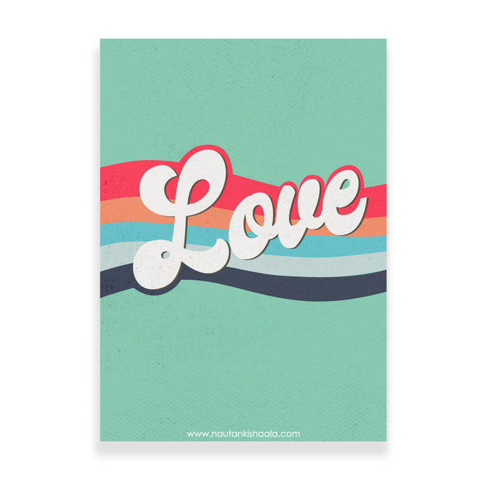Nautankishaala - LOVE Poster/Art Print - Quirky Designer Stationery