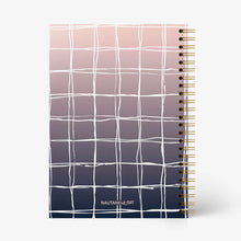 Load image into Gallery viewer, Hand Drawn Ombre Plaids Notebook - Nautankishaala