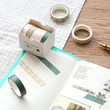 Load image into Gallery viewer, Pine Brunch Washi Tape | Set Of 5 - Nautankishaala