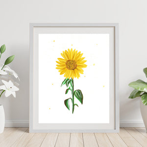 You Are My Sunflower Gauche Painting