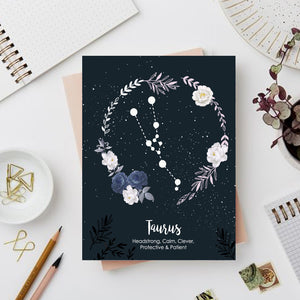 Taurus Zodiac Sign Notebook - Nautankishaala