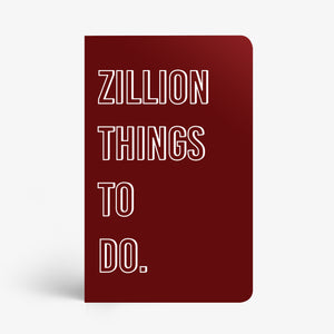 Zillion Things To Do Notebook - Nautankishaala