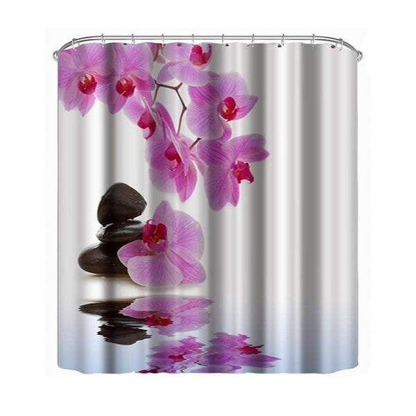 Flower Waterproof Shower Curtain
