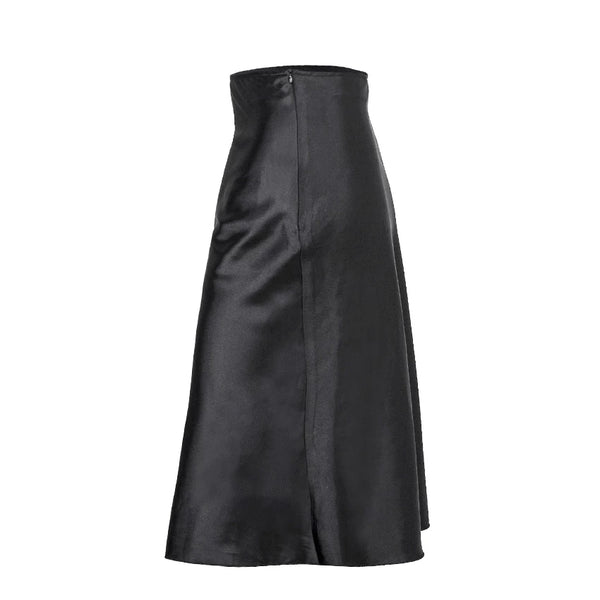 High Waist Satin/Silk Skirt
