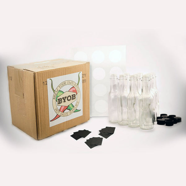 BrewYourOwnBatch 12-pack, 5oz Empty Bottle Kit