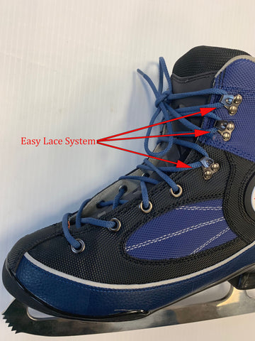 Easy lace system rental skates