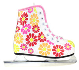 Girls Flower Power Double Runner Ice Skate