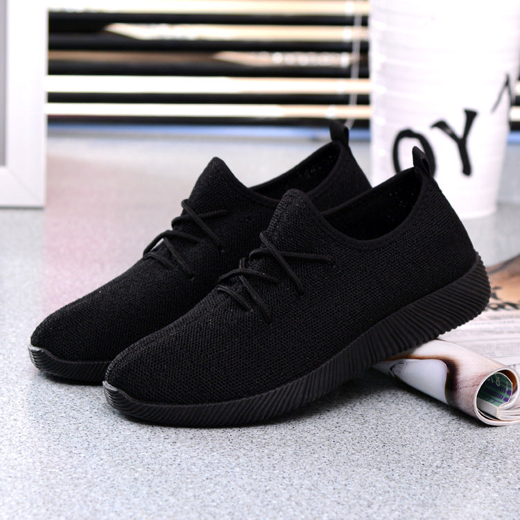 Solid Women Platform Breathable Casual Lightweight Shoes