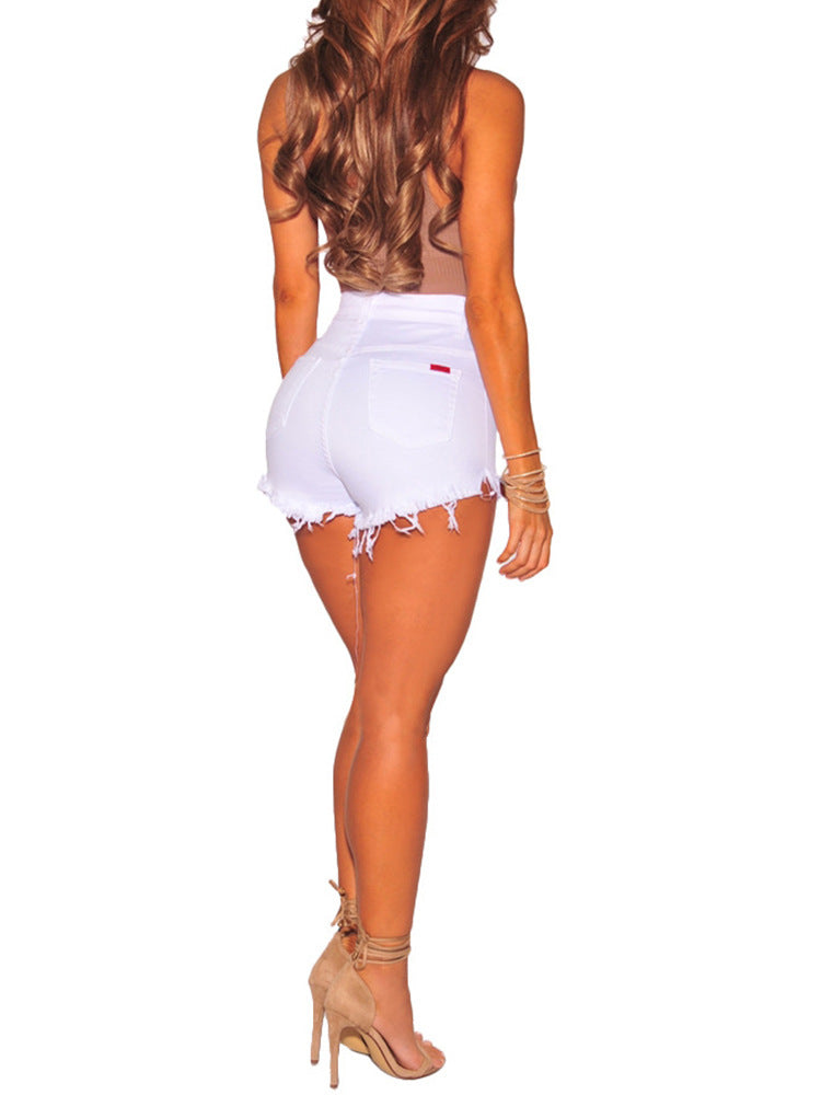 Casual High Waist Mini Ripped Jeans Shorts