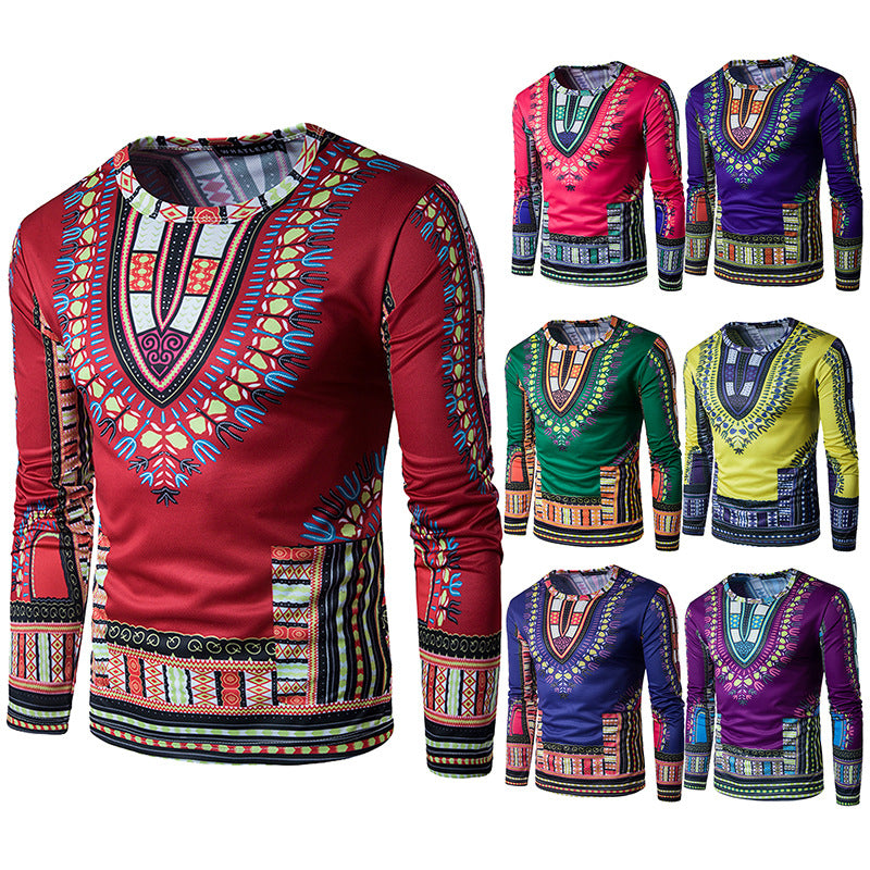 Batik Knitted Stitching African Clothing Dashikis