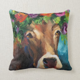 """Blueberrie"" Pillow, 16"" x 16"""