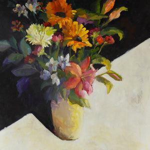 """D's Friday Bouquet"", 24 x 24 x 2 inches"