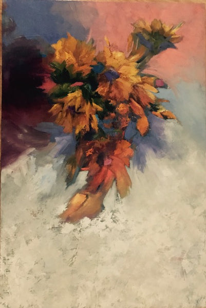 """Last of the Sunflowers"", 26 x 30 x 2 inches"