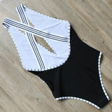 One Pieces Swimsuit Women Sexy Backless Swimwear Female Solid Monokini Black Swimming Suit Push Up Bathing Suit Deep V Bodysuit
